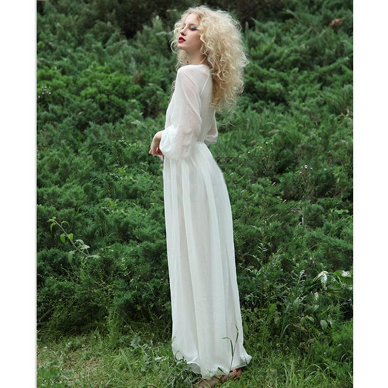 Bell Sleeve Wedding Dress: Hippie Gypsy Bohemian Bell Sleeve Women Long Lace Dress