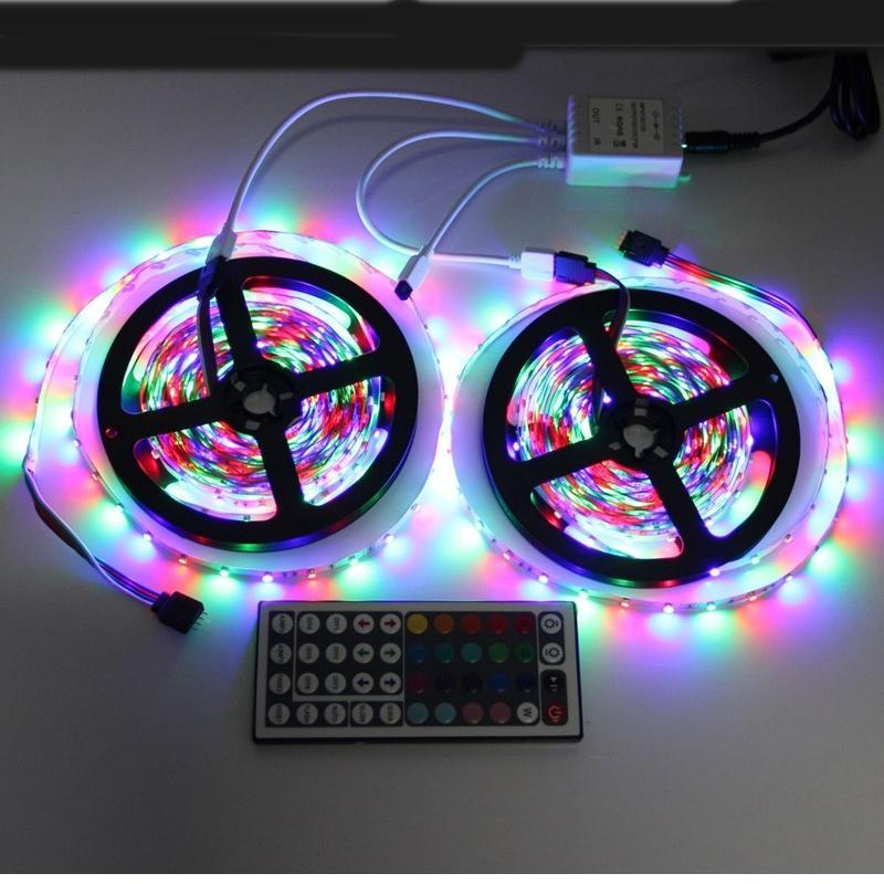 5m 10m 5050 3528 smd led strip lights rgb color tape complete kit remote control ebay. Black Bedroom Furniture Sets. Home Design Ideas