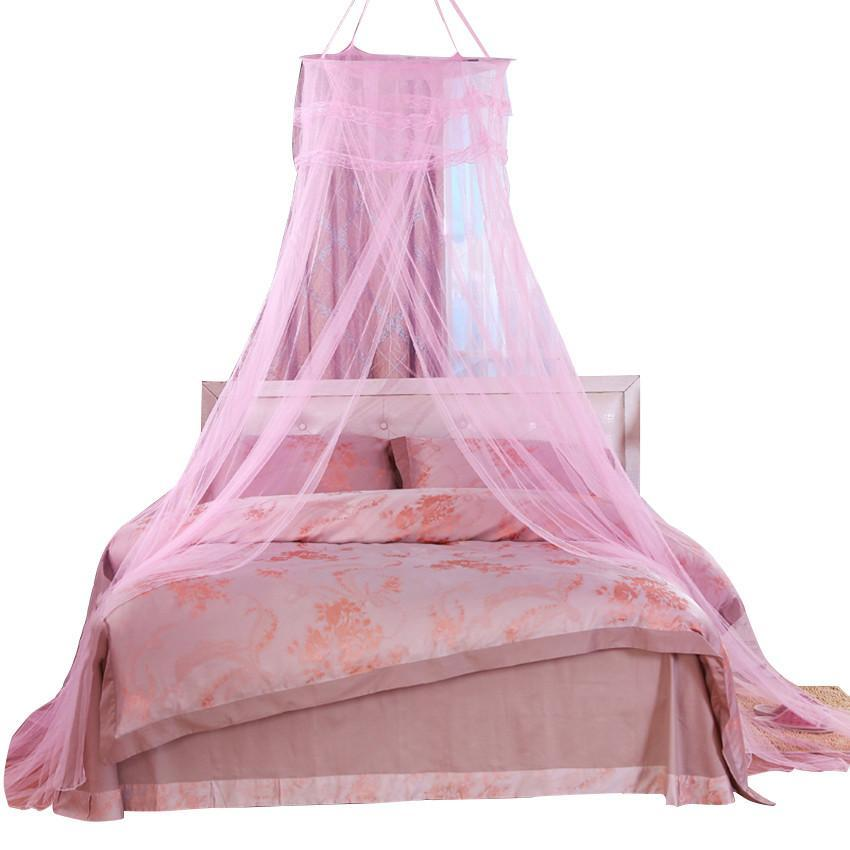 New Fashion Round Lace Curtain Dome Bed Canopy Netting
