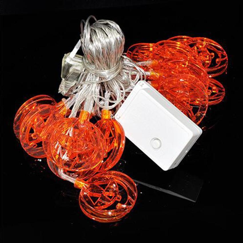 20 LED Halloween Orange Lantern Pumpkin String Fairy Lights Lamp 2016 eBay