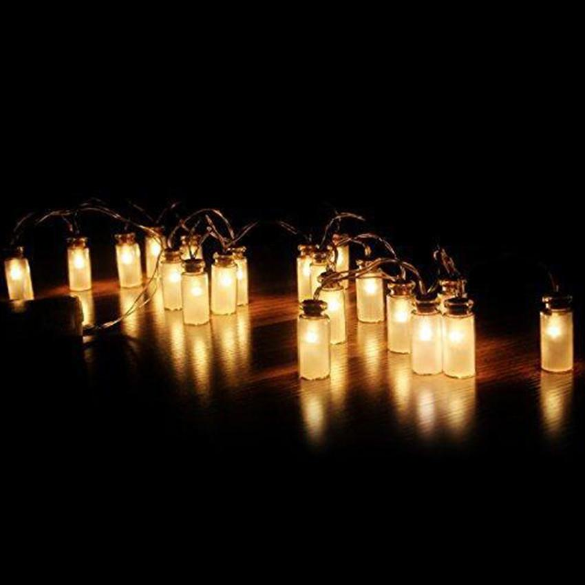 Battery Operated String Lights For Patio : Mason Jar String Lights Garden Deck Patio Lighting Battery Operated Set- 20/10 ! eBay