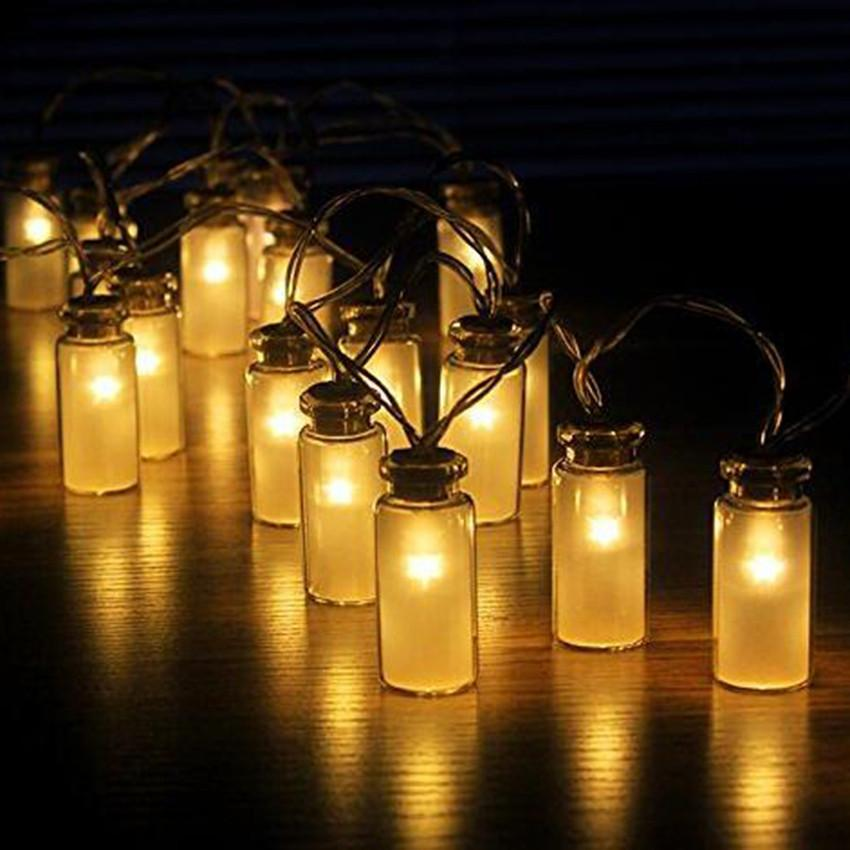 Mason Jar String Lights Garden Deck Patio Lighting Battery Operated Set- 20/10 ! eBay