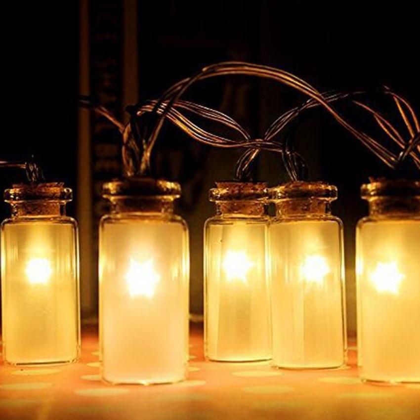 String Lights With Battery: Mason Jar String Lights Garden Deck Patio Lighting Battery