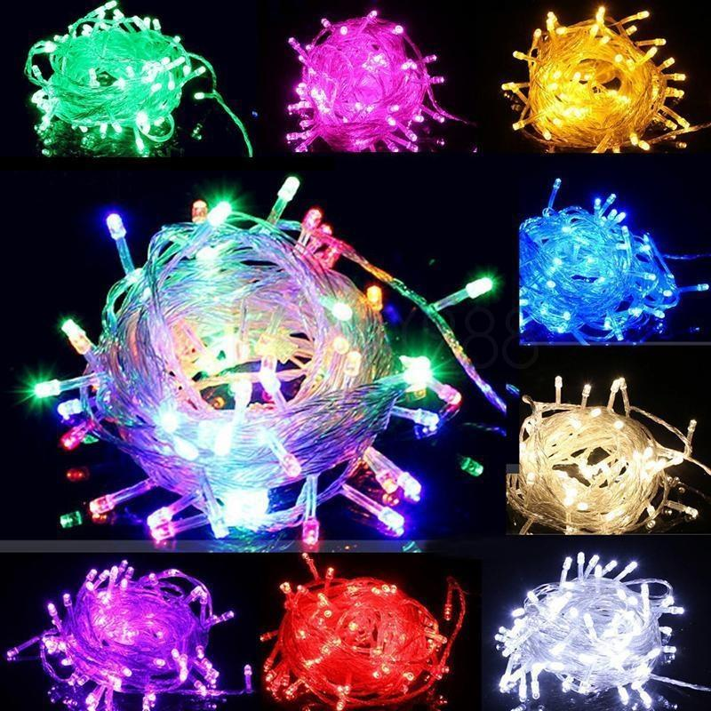 Holiday Party String Lights : 100LED 10M String Fairy Lights Christmas Wedding Party Xmas LED Light Waterproof eBay