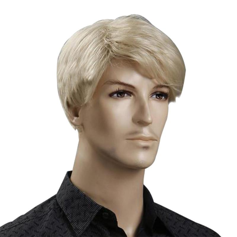 Short Blonde Wig Mens 47