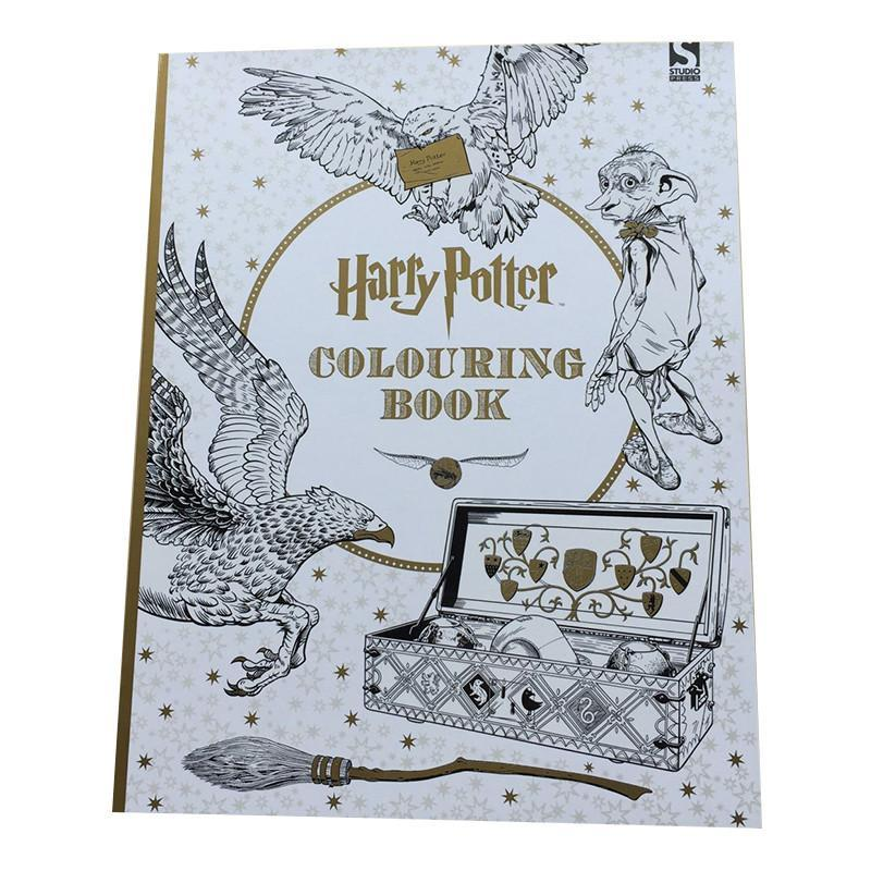 96 Pages Harry Potter Coloring Books For Adults Kill Time