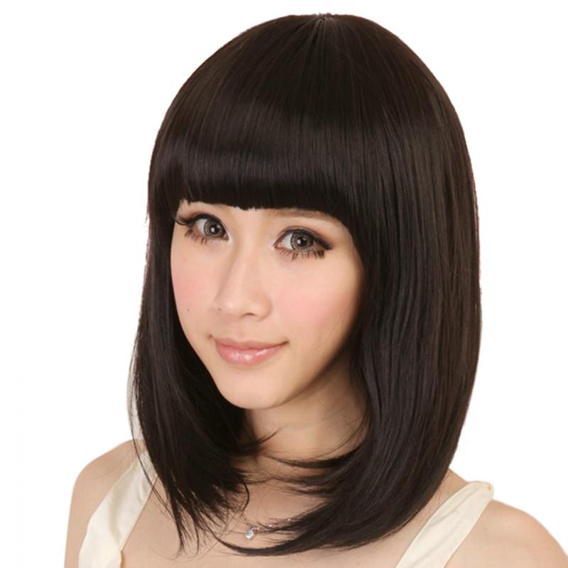 2016 Korean Ladies Bang Short Straight Wigs Women Cosplay