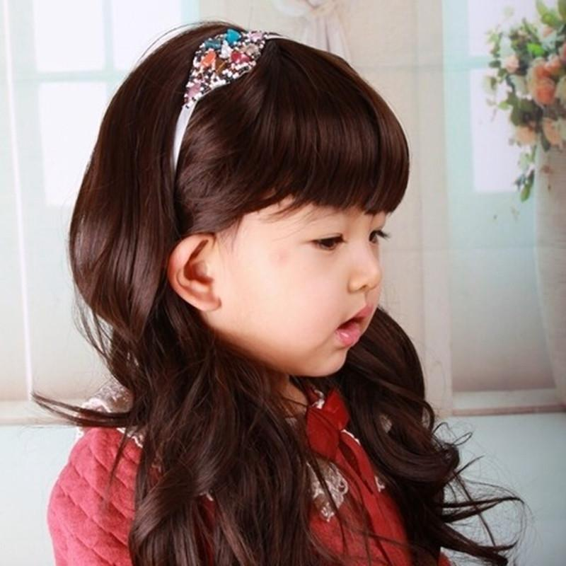 Girls Princess Wig Long Curly Hair Costume Dress Up Child