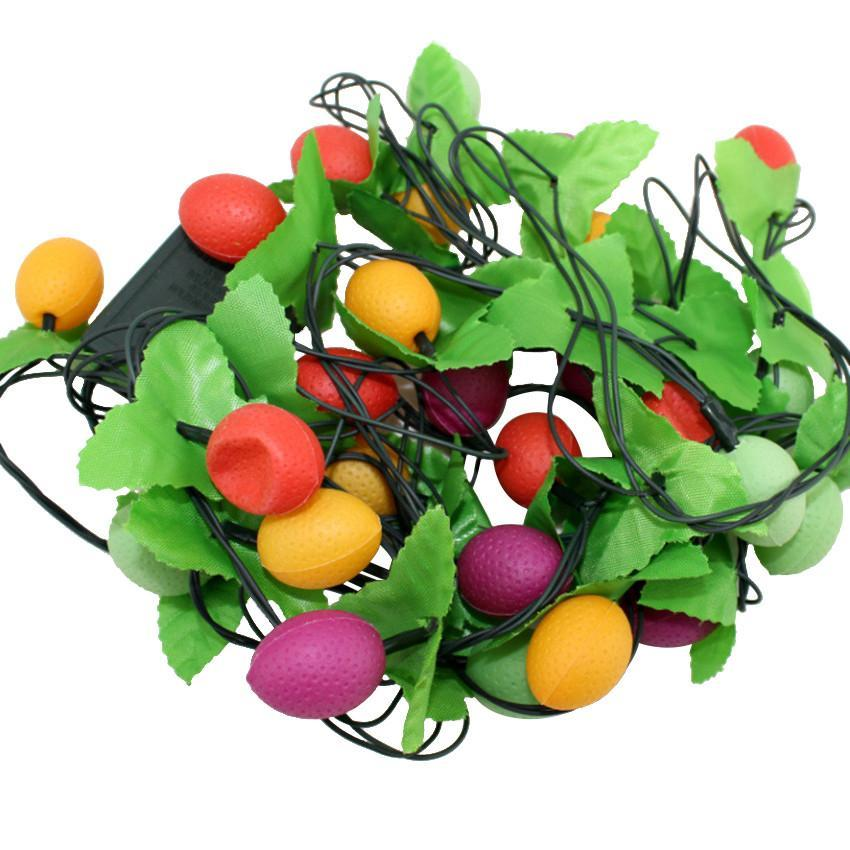 Color Fruits 28 LED Rattan Ball LED Lights String Fairy Lamps Wedding Party Xmas eBay