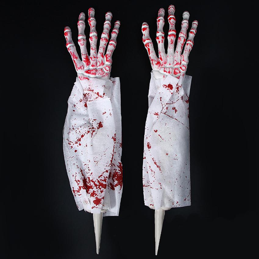 Details about Halloween Creepy Groundbreaker Arms Hands Graveyard Prop  Decor Zombie Fingers