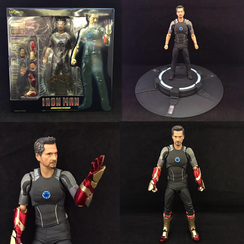 Marvel Avengers Initiative Iron Man Tony Stark PVC Ironman Statue Figure Action