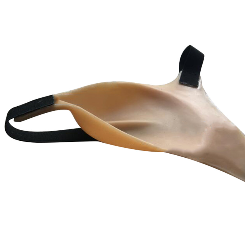 Silicone Straps Camel Toe Fake Vagina Hide Penis Thongs -7806