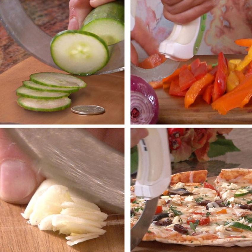 Rolling Circular Knife Food Slicer Kitchen Tool Vegetable