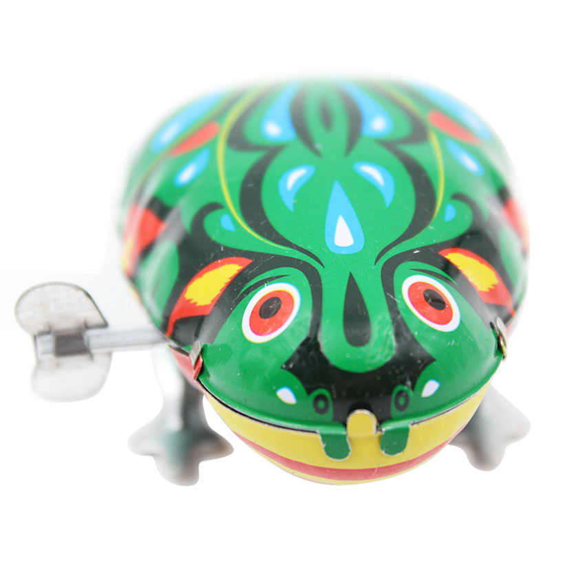 c8bc44c48c61 Kids Classic Tin Wind Up Clockwork Toys Jumping Frog Vintage Toy For ...
