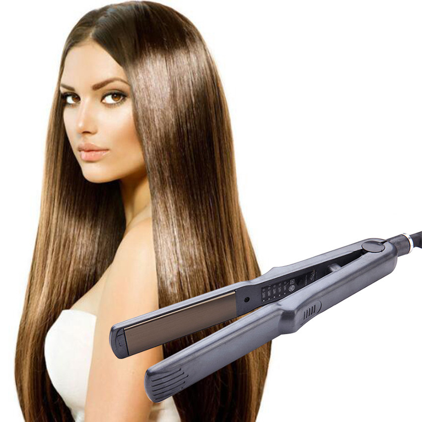 Details about Flat Iron Straightening Heating Hair Straighteners Fluffy Slick Smooth Styler