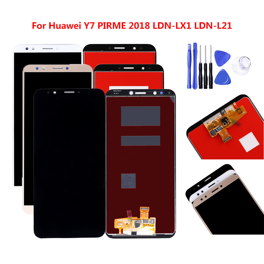 Touch Glass Screen Replacement for Huawei Y7 2018 LDN-L01 LDN-LX3 White
