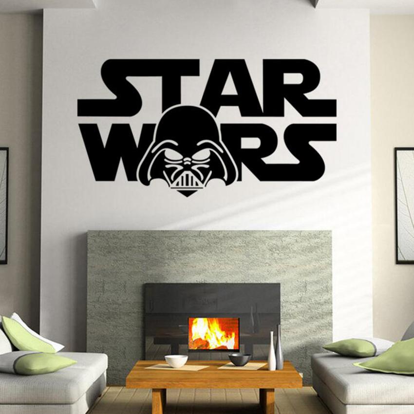 Star Wars 3D Window View WALL STICKER Decor Art Mural Kids Boy Decal Removable